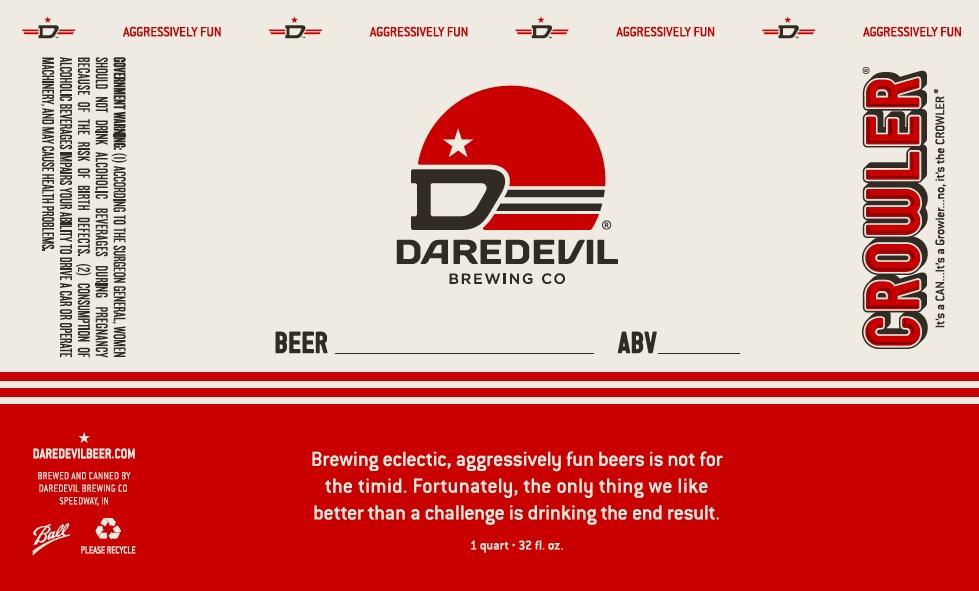 Daredevil Brewing Co | Crowler Label
